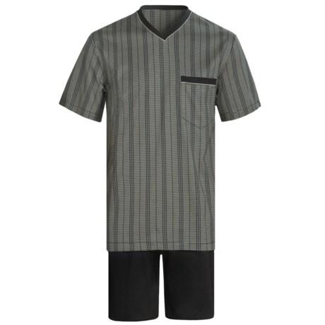 Calida Atlantic Pajamas - V-Neck, Short Sleeve (For Men) in Black