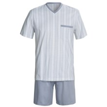 Calida Atlantic Pajamas - V-Neck, Short Sleeve (For Men) in Smoke - Closeouts