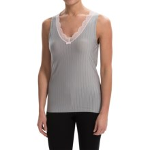 Calida Aura Tank Top - V-Neck (For Women) in Light Grey Heather - Closeouts