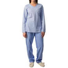 Calida Autumn Day Pajamas - Long Sleeve (For Women) in Hydrangea - Closeouts