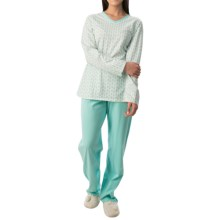 Calida Autumn Day Pajamas - Long Sleeve (For Women) in Splash - Closeouts