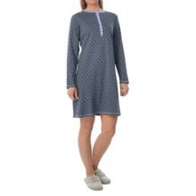 Calida Beautiful Harvest Sleep Shirt - Long Sleeve (For Women) in Maarsh Violet - Closeouts