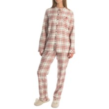 Calida Bedtime Stories Pajamas - Button-Up, Long Sleeve (For Women) in Glasrose - Closeouts