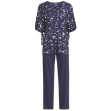 Calida Blue Lagoon Pants Pajamas - Micromodal®, Short Sleeve (For Women) in Astral Blue - Closeouts