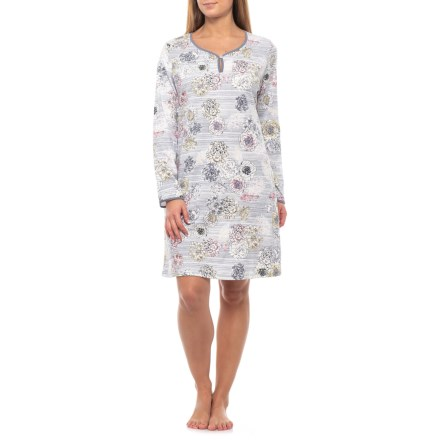 Calida Brittany Nightshirt - Long Sleeve (For Women) in Blue Granite -  Closeouts bd1815b8c