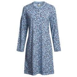 Calida Coffee Break Big Shirt - Long Sleeve (For Women) in Air Blue