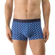 Calida Color Prints Boxer Briefs - Pima Cotton, Low Rise (For Men) in Enamel Blue - Closeouts