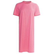 Calida Coral Reef Nightshirt - Single-Jersey Cotton, Short Sleeve (For Women) in Berry Pink - Closeouts
