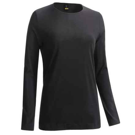 Calida Cotton Favourites Round Neck Shirt - Cotton, Long Sleeve (For Women) in Black - Closeouts