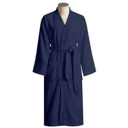 Calida Cotton Terry Robe - Kimono Style (For Women) in Marine - Closeouts