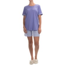 Calida Deauville Pajamas - Swiss Cotton, Short Sleeve (For Women) in Blue Violet - Closeouts