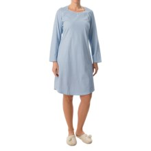 Calida Early Flower Nightgown - Long Sleeve (For Women) in Victoria Blue - Closeouts