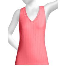 Calida Etude Tank Top - Lace Trim (For Women) in Hot Coral - Closeouts