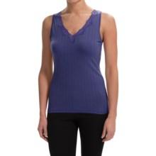 Calida Etude Tank Top - Pima Cotton, V-Neck (For Women) in Coral - Closeouts