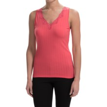 Calida Etude Tank Top - Pima Cotton, V-Neck (For Women) in Pink Havens - Closeouts