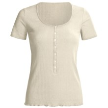 Calida Excelsior Shirt - Stretch Cotton, Short Sleeve (For Women) in Pebble - Closeouts