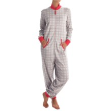 Calida Family Time Jumpsuit Pajamas - Heavyweight Interlock Cotton, Long Sleeve (For Women) in Fog - Closeouts