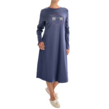 Calida Family Time Nightgown - Long Sleeve (For Women) in Seaman Blue - Closeouts