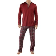 Calida Family Time Pajamas - Heavy Interlock Cotton, Long Sleeve (For Men) in Velvet Red - Closeouts