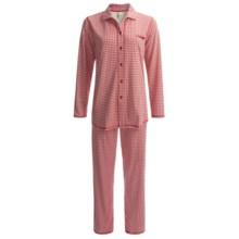 Calida Family Time Pajamas - Heavyweight Interlock Cotton, Long Sleeve (For Women) in Crimson - Closeouts