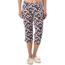 Calida Favorites Crop Lounge Pants - Cotton-Modal (For Women) in Blue Ribbon - Closeouts