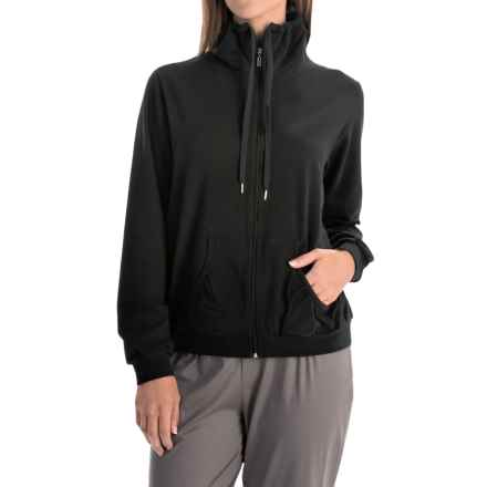 Calida Favourites Banded-Collar Jacket (For Women) in Black - Closeouts