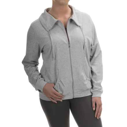 Calida Favourites Banded-Collar Jacket (For Women) in Grey Heather - Closeouts