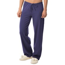 Calida Favourites Crop Lounge Pants - Single Jersey (For Women) in Blue Ribbon - Closeouts