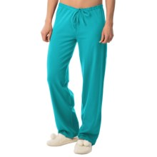 Calida Favourites Crop Lounge Pants - Single Jersey (For Women) in Caribbean Blue - Closeouts