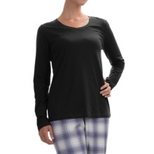 Calida Favourites Lounge Shirt - Cotton Jersey, Long Sleeve (For Women) in Black - Closeouts