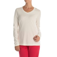 Calida Favourites Lounge Shirt - Cotton Jersey, Long Sleeve (For Women) in Star White - Closeouts