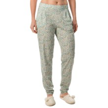 Calida Favourites Pull-On Pajama Pants - Cotton-Modal (For Women) in Aqua Pool Turquoise - Closeouts