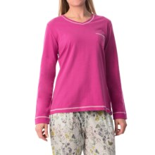 Calida Favourites Trend 5 Shirt - Cotton, Long Sleeve (For Women) in Pink Petunia - Closeouts