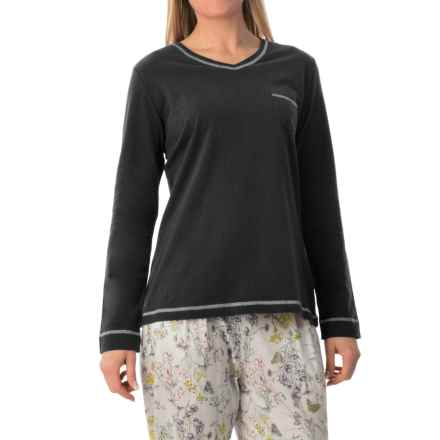 Calida Favourites Trend 5 Shirt - Cotton, Long Sleeve (For Women) in Platinum - Closeouts