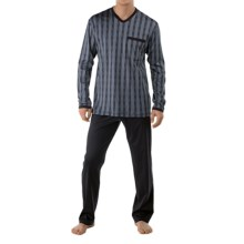 Calida Feel Good Supima® Cotton Pajamas - Long Sleeve (For Men) in Dusty Grey - Closeouts
