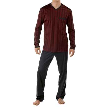 Calida Feel Good Supima® Cotton Pajamas - Long Sleeve (For Men) in Velvet Red - Closeouts