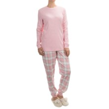 Calida Feeling Home Cotton Pajamas - Long Sleeve (For Women) in Lotion - Closeouts
