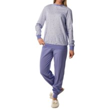 Calida Freesia Pajamas - Cotton Jersey, Long Sleeve (For Women) in Blue Violet - Closeouts