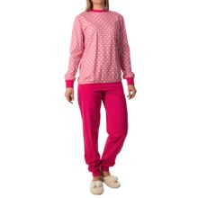 Calida Freesia Pajamas - Cotton Jersey, Long Sleeve (For Women) in Brilliant Pink - Closeouts