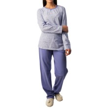 Calida Freesia Pajamas - Long Sleeve (For Women) in Blue Violet - Closeouts