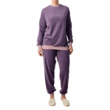 Calida Fruit Shake Cuffed Pajamas - Long Sleeve (For Women) in Purple - Closeouts