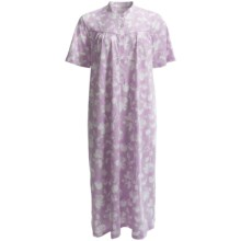 Calida Heavy Cotton Nightshirt - Short Sleeve (For Women) in Fair Orchid - Closeouts