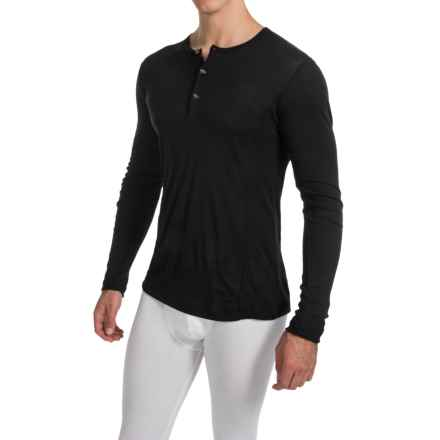 Calida Keep Warm Stay Cool Shirt - Wool-Silk, Long Sleeve (For Men) in Black - Closeouts