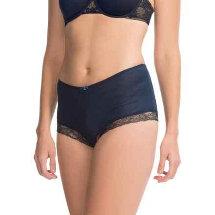 Calida Kirstin Panties - Boy Shorts, Wool-Silk (For Women) in Black Iris - Closeouts