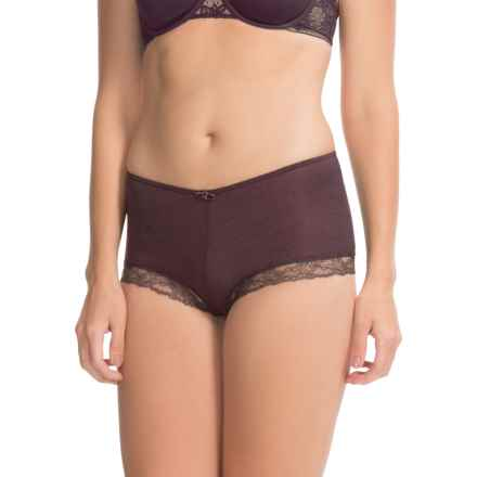 Calida Kirstin Panties - Boy Shorts, Wool-Silk (For Women) in Pansy Violet - Closeouts