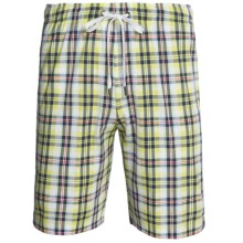 Calida Liberty Draw Waist Bermuda Shorts - Cotton (For Men) in Vanilla - Closeouts