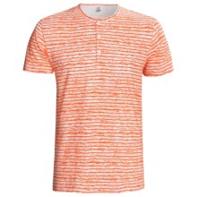 Calida Liberty Henley T-Shirt - Stretch Cotton, Short Sleeve (For Men) in Blaze - Closeouts