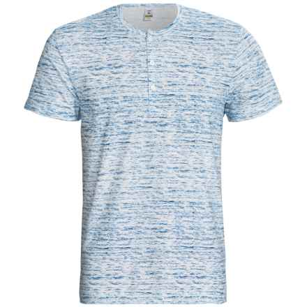 Calida Liberty Henley T-Shirt - Stretch Cotton, Short Sleeve (For Men) in Blue Gap - Closeouts