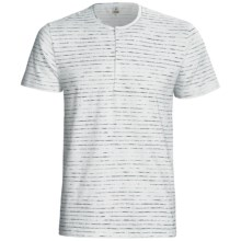 Calida Liberty Henley T-Shirt - Stretch Cotton, Short Sleeve (For Men) in Grafit - Closeouts