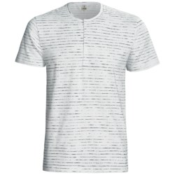 Calida Liberty Henley T-Shirt - Stretch Cotton, Short Sleeve (For Men) in Blaze